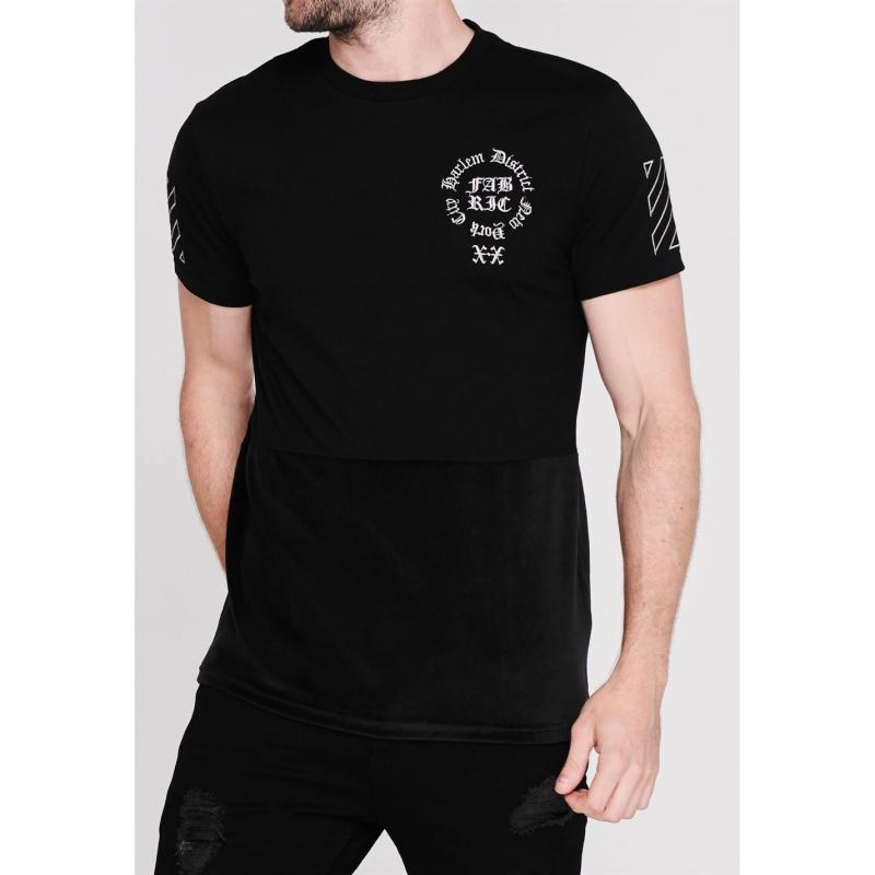 Tričko Fabric Sublimation T Shirt Mens Velour Black