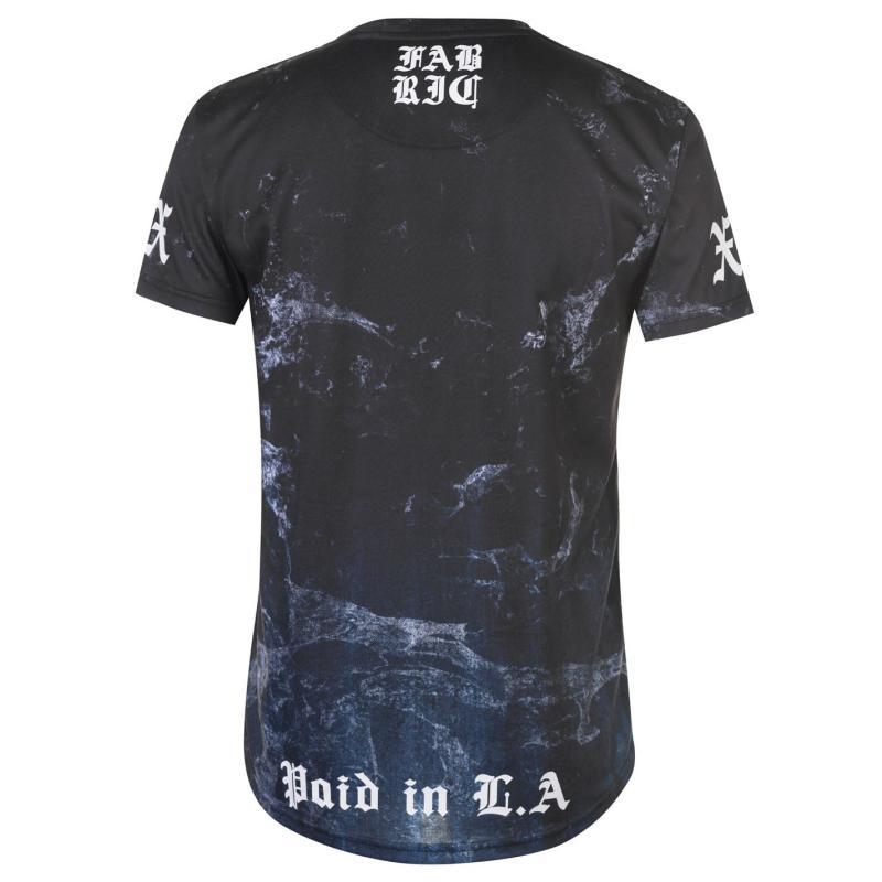 Tričko Fabric Sublimation T Shirt Mens Stripe Multi