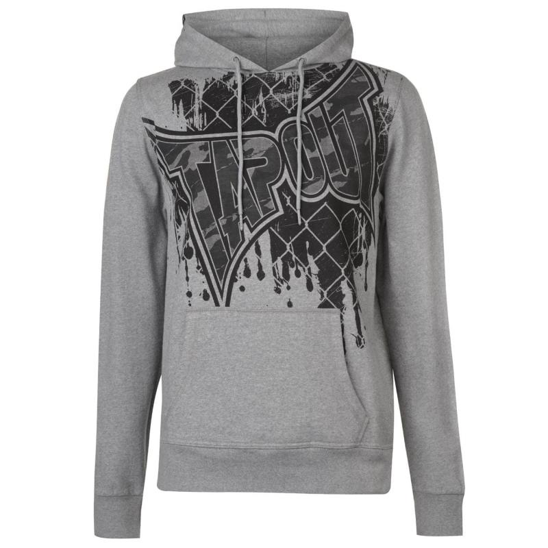 Mikina Tapout Core OTH Hoody Mens Grey Marl