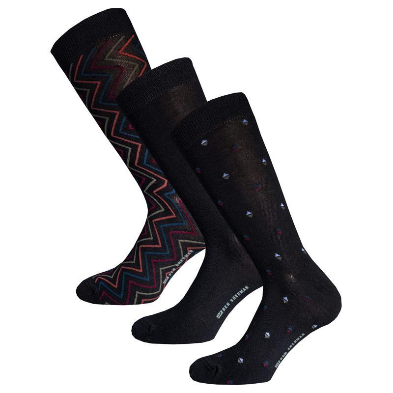 Ponožky Ben Sherman Mens Alberoni 3 Pack Socks Black