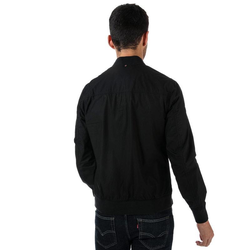 Pretty Green Mens Cotton Bomber Jacket Black