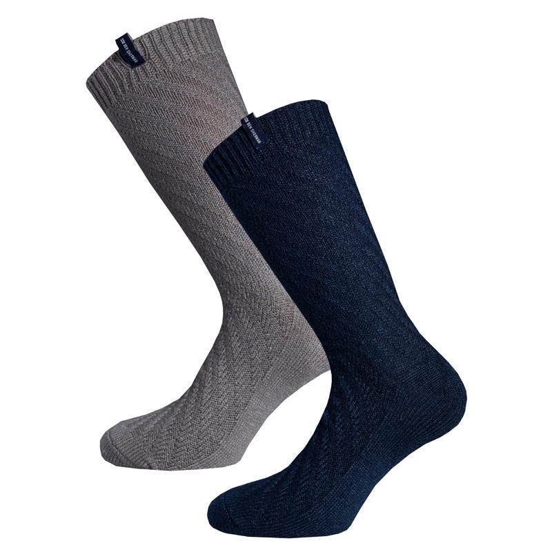 Ponožky Ben Sherman Mens Daletta 2 Pack Boot Socks Navy Grey