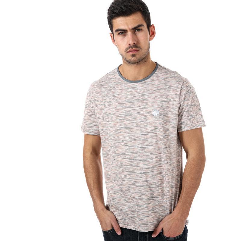 Tričko Pretty Green Mens Space Dye T-Shirt Grey