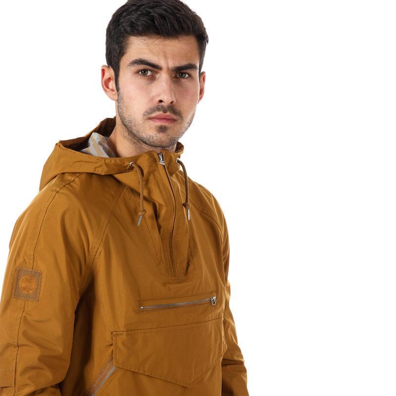 Pretty Green Mens Water Resistant Overhead Hooded Jacket Mustard