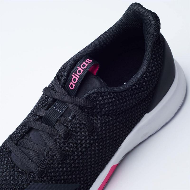 Adidas Lite Racer Ladies Trainers Blk/Blk/White