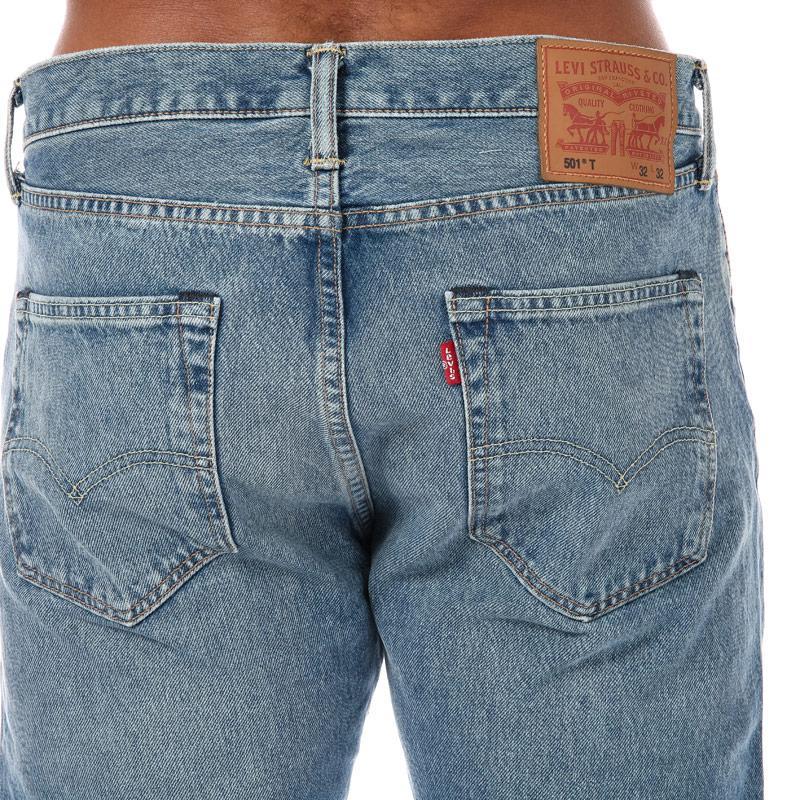 Levis Mens 501 Slim Taper Fit Jeans Denim