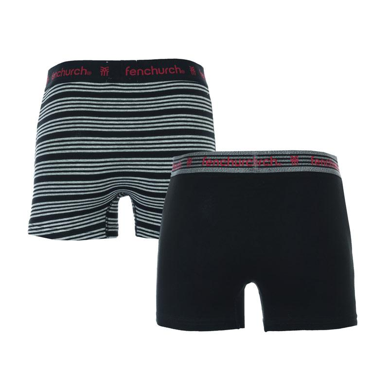 Spodní prádlo Fenchurch Mens Fedor 2 Pack Boxer Shorts Black