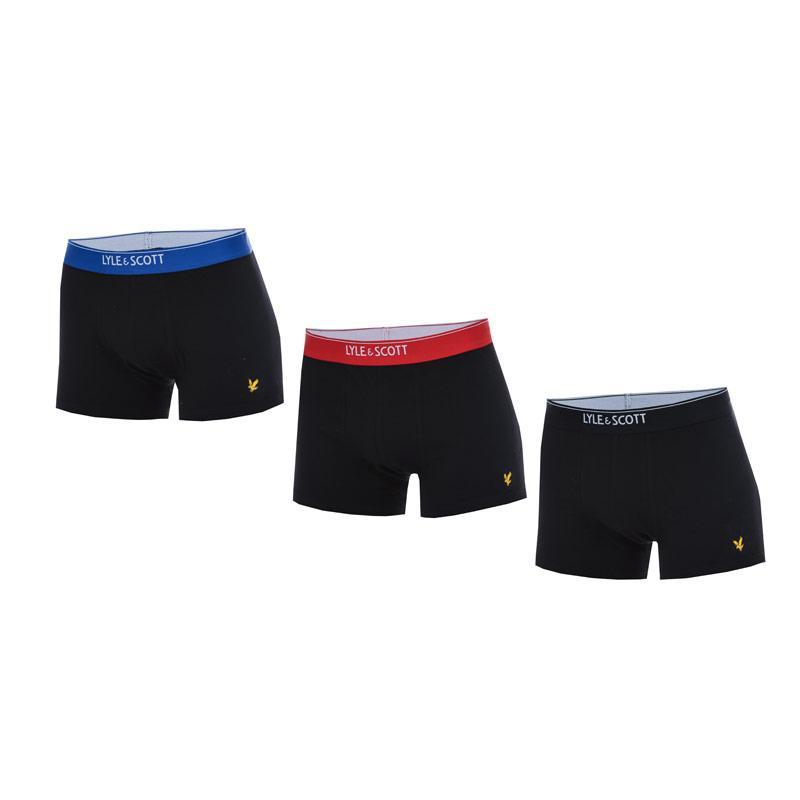 Spodní prádlo Fenchurch Mens Fergus 3 Pack Boxer Shorts Black