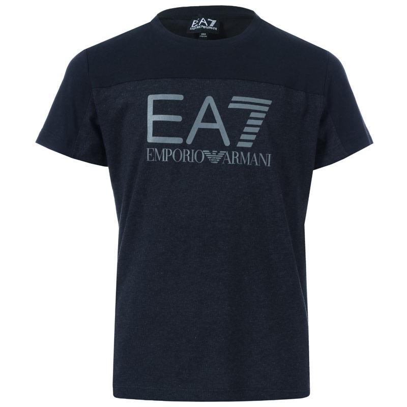 Tričko Emporio Armani EA7 Infant Boys Train Tritonal SS T-Shirt Navy