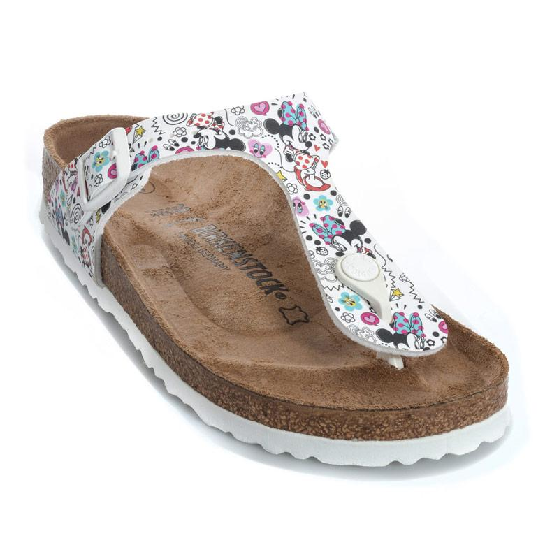 Birkenstock Junior Girls Gizeh DD Lovely Minnie Sandals White