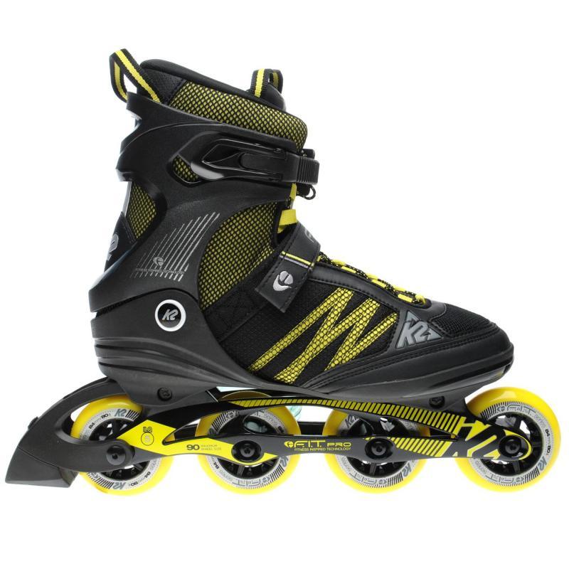 K2 F I T 84 Pro Inline Skates Mens Black/Yellow