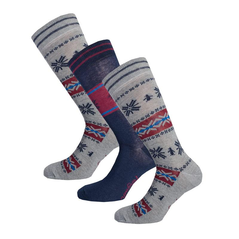 Ponožky Original Penguin Mens 3 Pack Sock Gift Set Red Blue