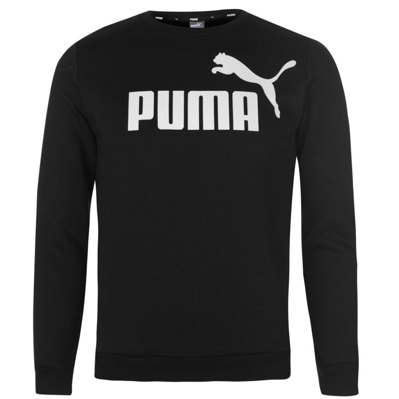 Mikina Puma No 1 Crew Sweatshirt Junior Boys Forest Night