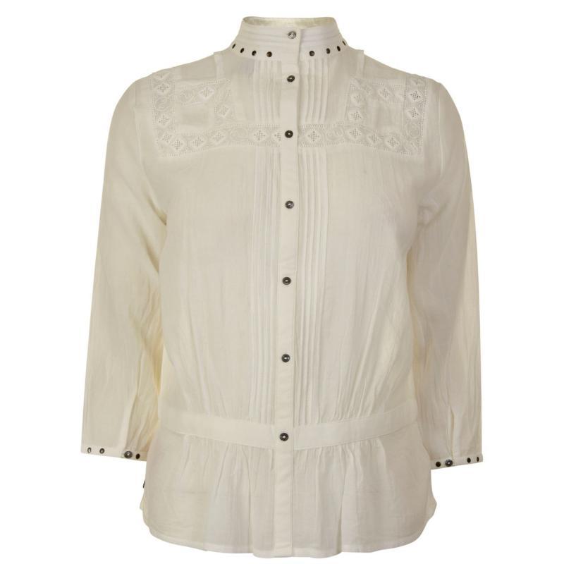 Košile Maison Scotch Embroidered Top Off White
