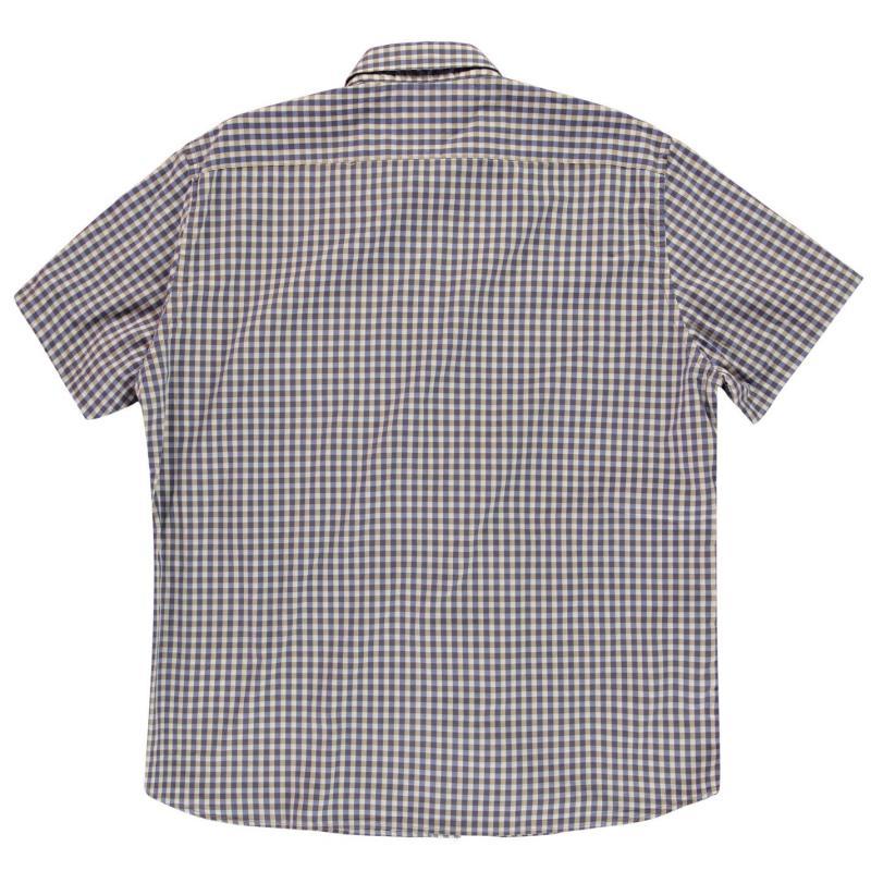 Marc O Polo Gingham Short Sleeve Shirt Mens Navy/White