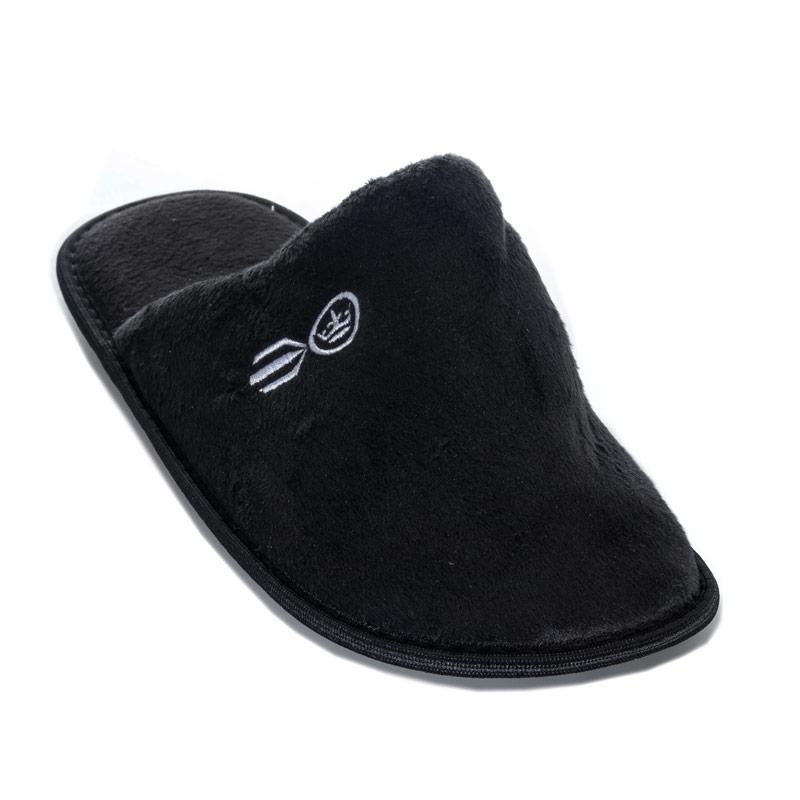Crosshatch Black Label Mens Sherway Mule Slipper Black
