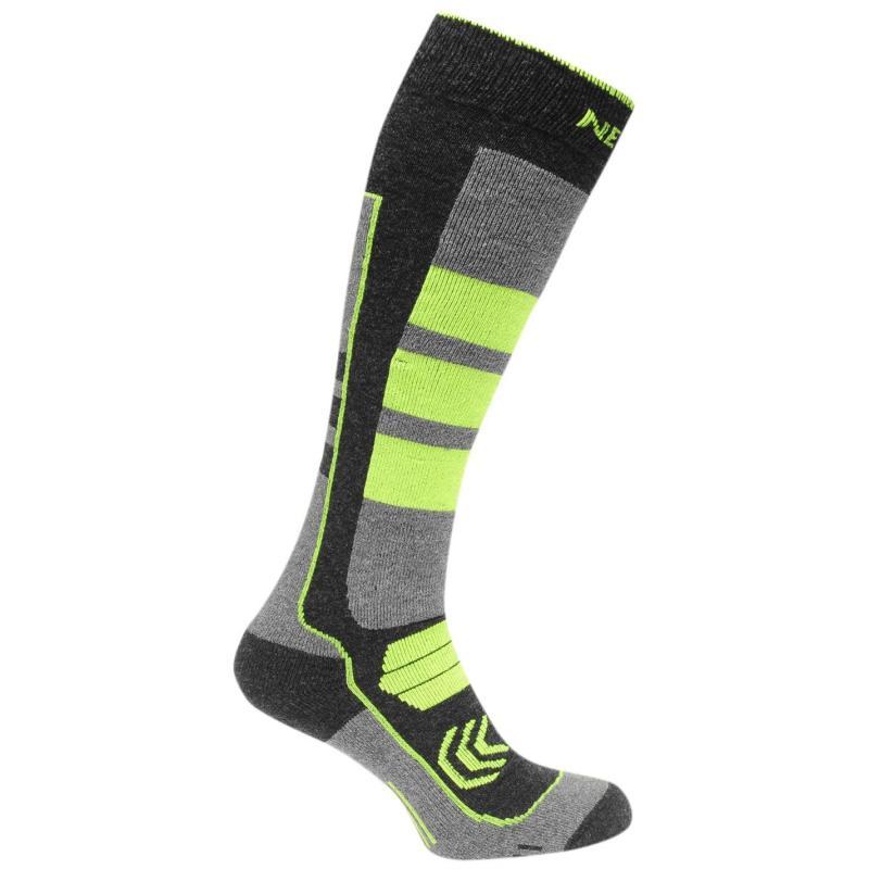 Nevica Vail 1 Pack Ski Socks Mens Black/Lime