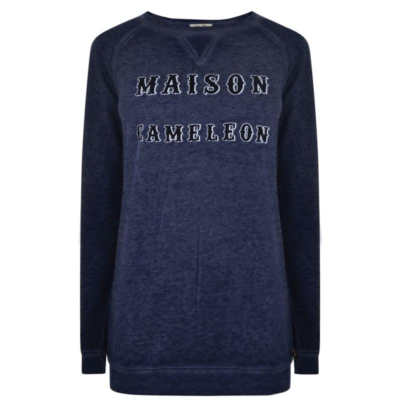 Mikina Maison Scotch Cameleon Sweatshirt Blue