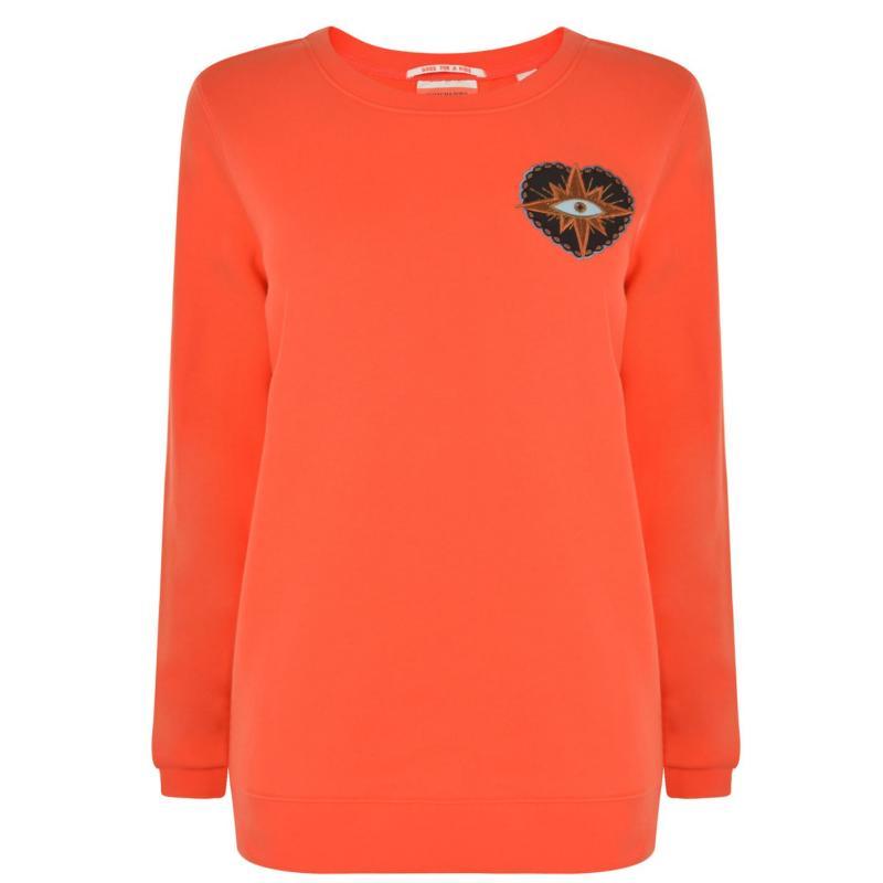 Mikina Maison Scotch Motif Sweatshirt Red