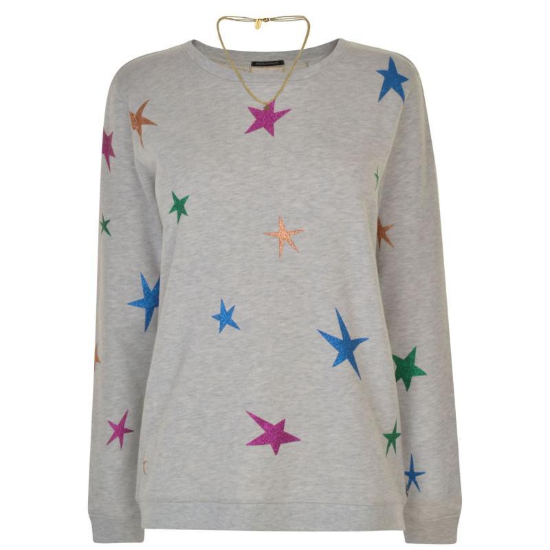 Mikina Maison Scotch Star Sweatshirt Grey