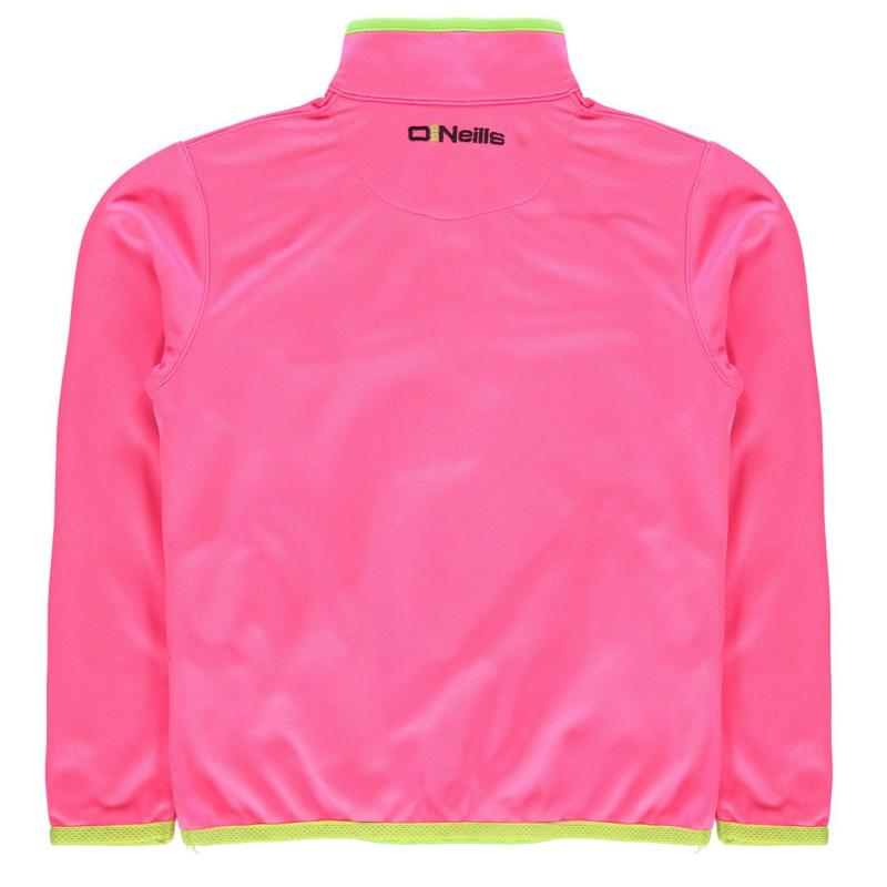 ONeills Derry GAA Zip Top Child Girls F Pink/N Lime/Y