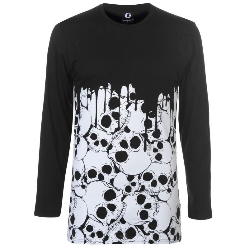 Tričko Fearless Illustration Fearless LS T Shirt Mens Skulls