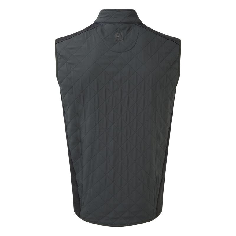 Footjoy Quilted Golf Gilet Mens Charcoal
