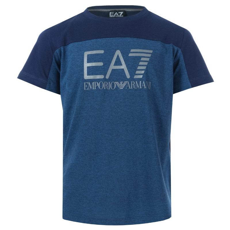 Tričko Emporio Armani EA7 Junior Boys Train Tritonal SS T-Shirt Navy