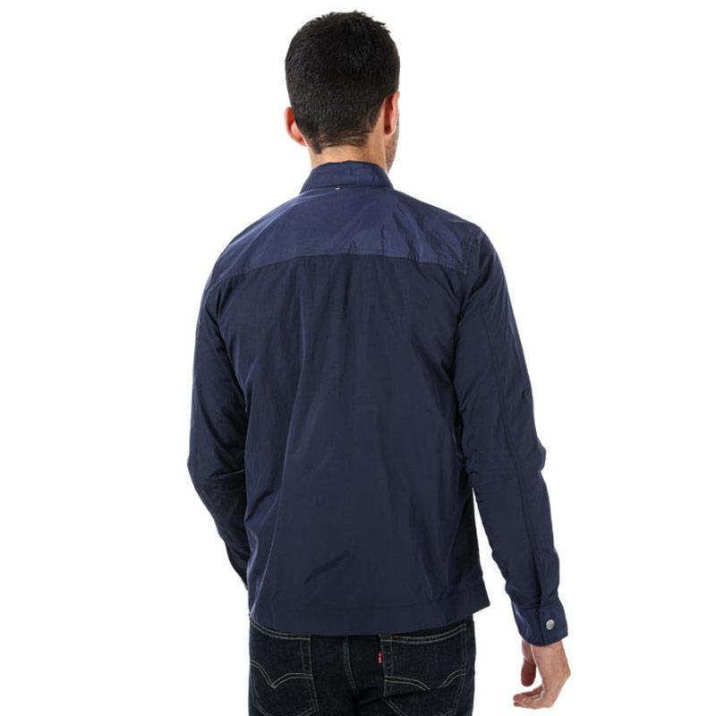 Pretty Green Mens Lightweight Zip Through Jacket Light Blue