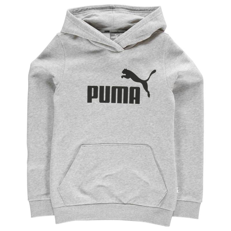 Puma No1 Over the Head Hoody Junior Girls Black
