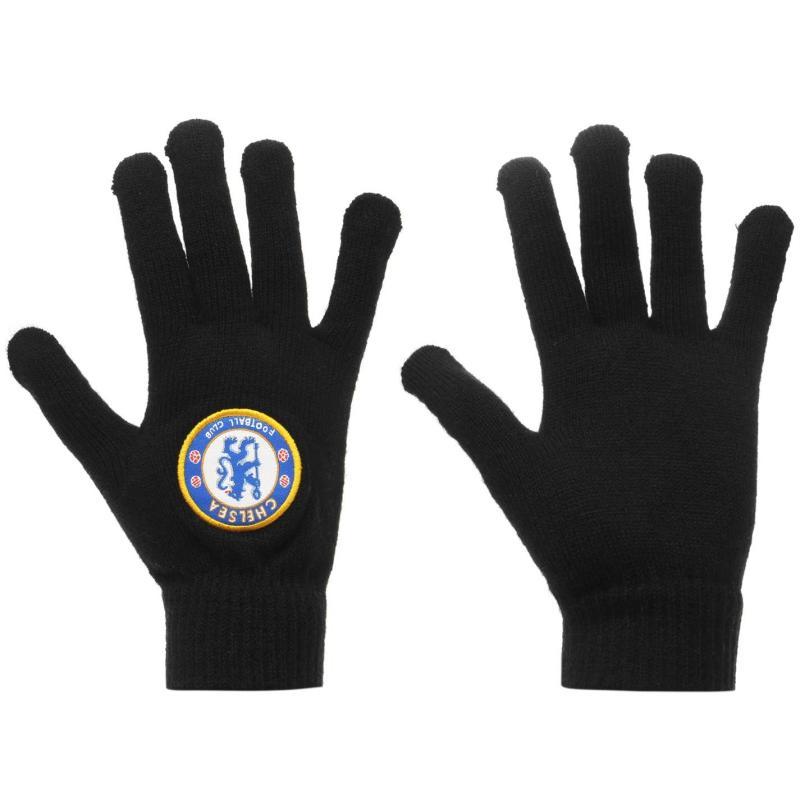 Team Knit Gloves Juniors Chelsea