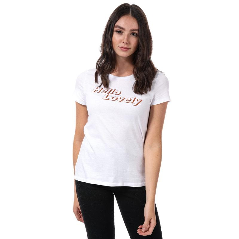 Vero Moda Womens Hello Lovely T-Shirt White