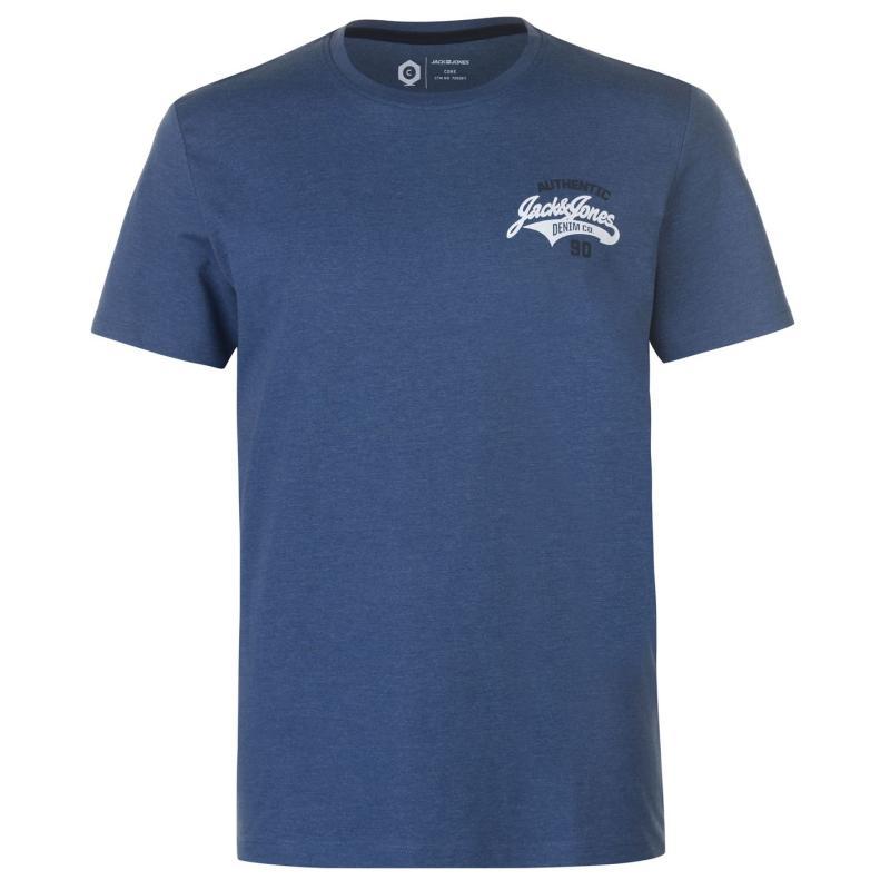 Tričko Jack and Jones Core Heritage T Shirt Ensign Blue/Wht