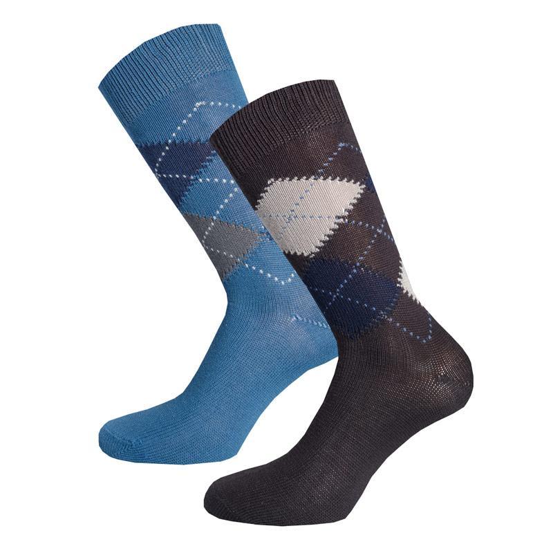 Ponožky Pretty Green Mens 2 Pack Argyle Socks Multi colour