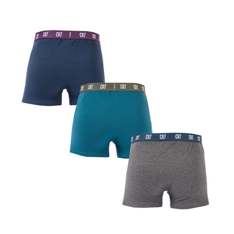 Spodní prádlo Mens CR7 3 Pack Boxer Shorts Navy