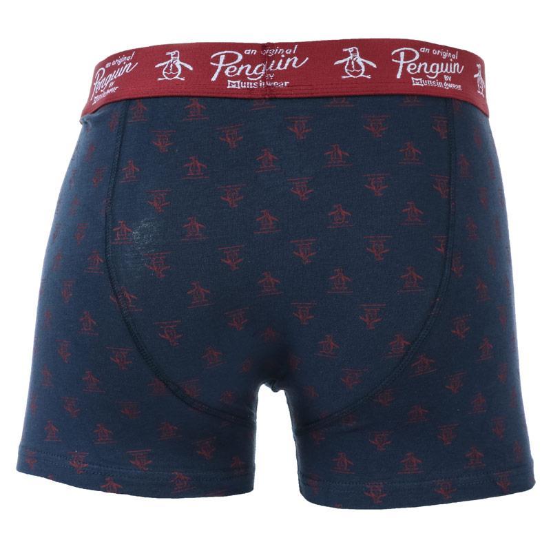 Ponožky Original Penguin Mens Sock and Boxer Short Gift Set Red navy