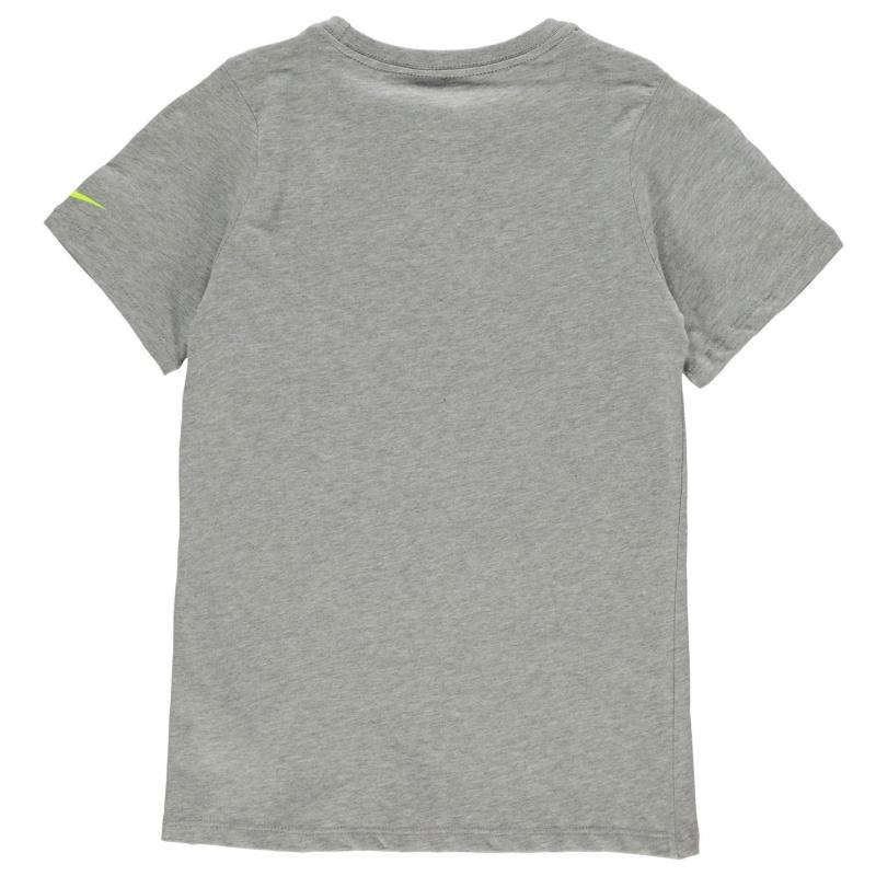 Tričko Nike Blocked Swoosh QTT T Shirt Junior Boys Grey