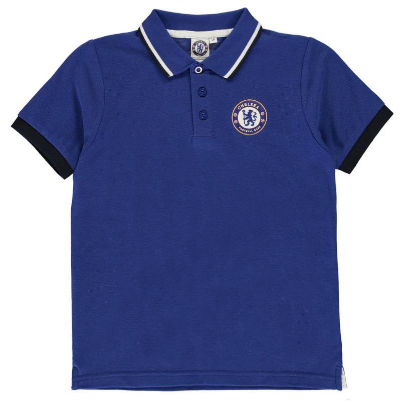 Source Lab Chelsea FC Polo Shirt Junior Boys Blue