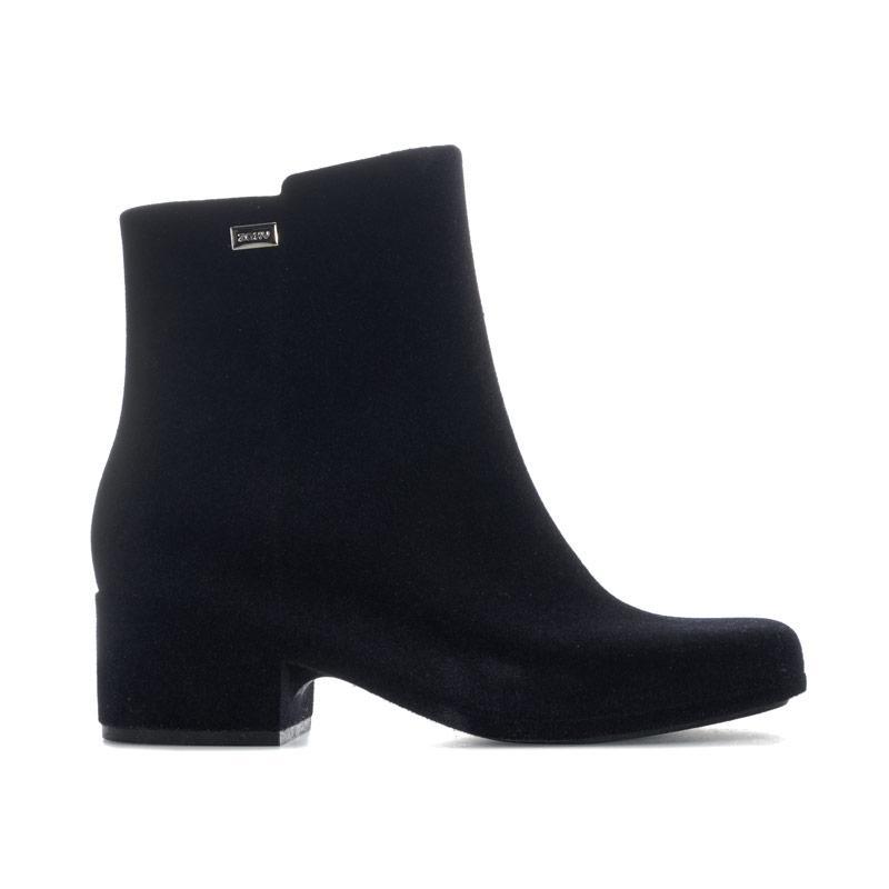 Zaxy Womens Close Flock Boots Black