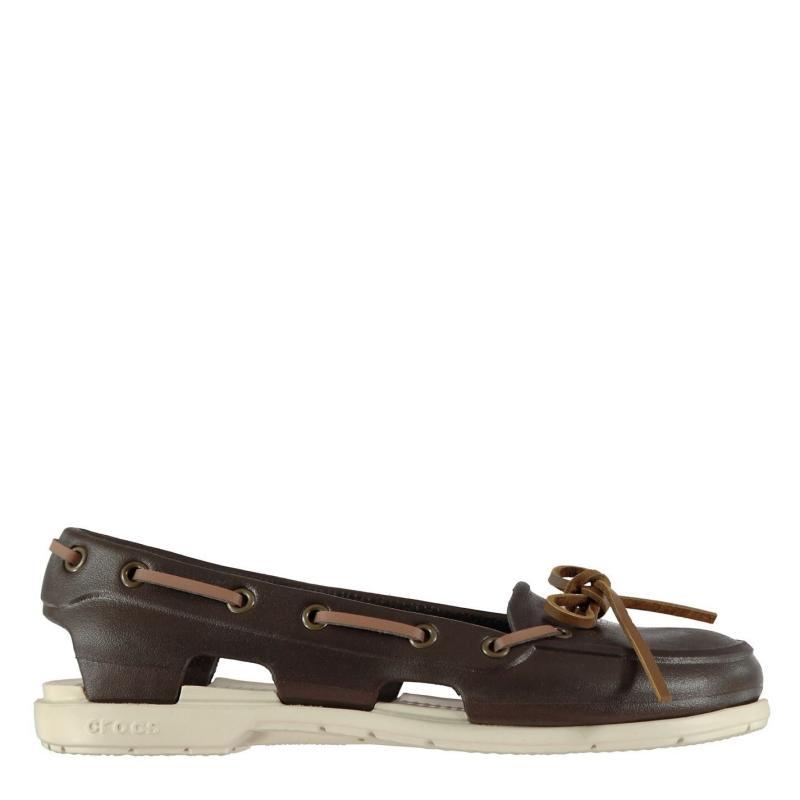 Crocs Ladies Beach Boat Shoes Espresso/Stucco