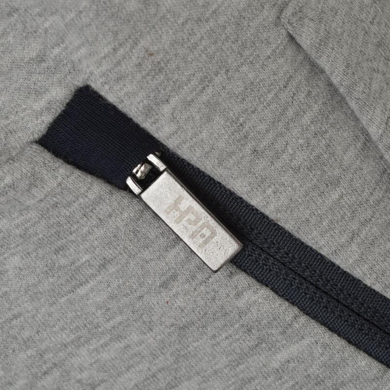 Mikina Hurlingham Polo 1875 Zipped Hooded Sweatshirt Charcoal