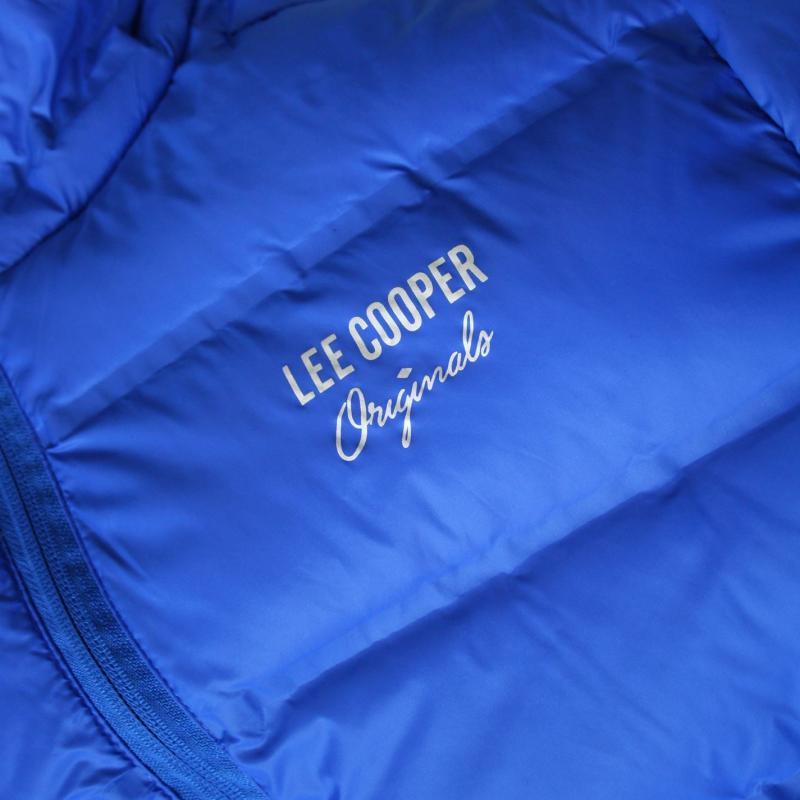Lee Cooper Seamless Down Jacket Mens Royal