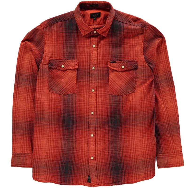 Mikina Pepe Jeans Olivier Check Shirt Currant