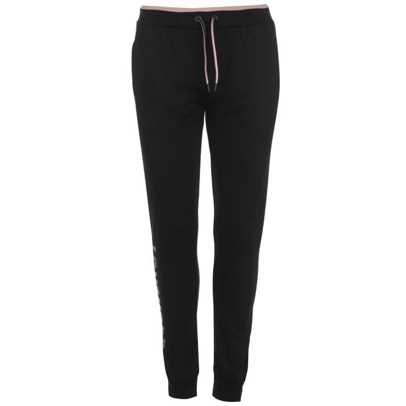 Sportovní kalhoty Everlast Side Logo Jogging Pants Ladies Grey Marl/Pink