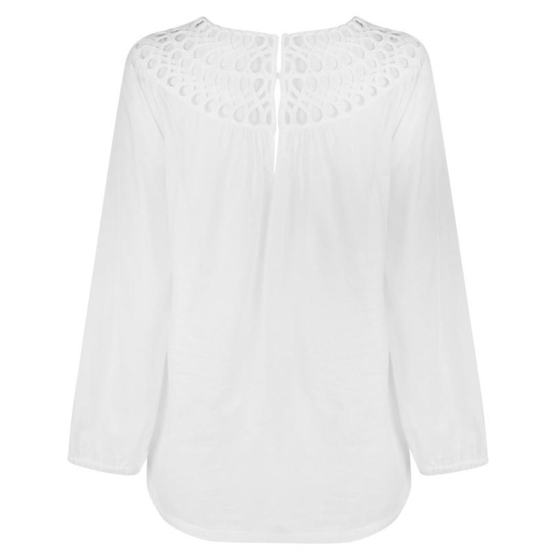 Košile Laurel Collar Blouse White