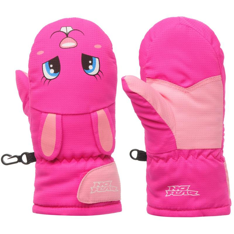 No Fear Animal Mitt Infants Pink