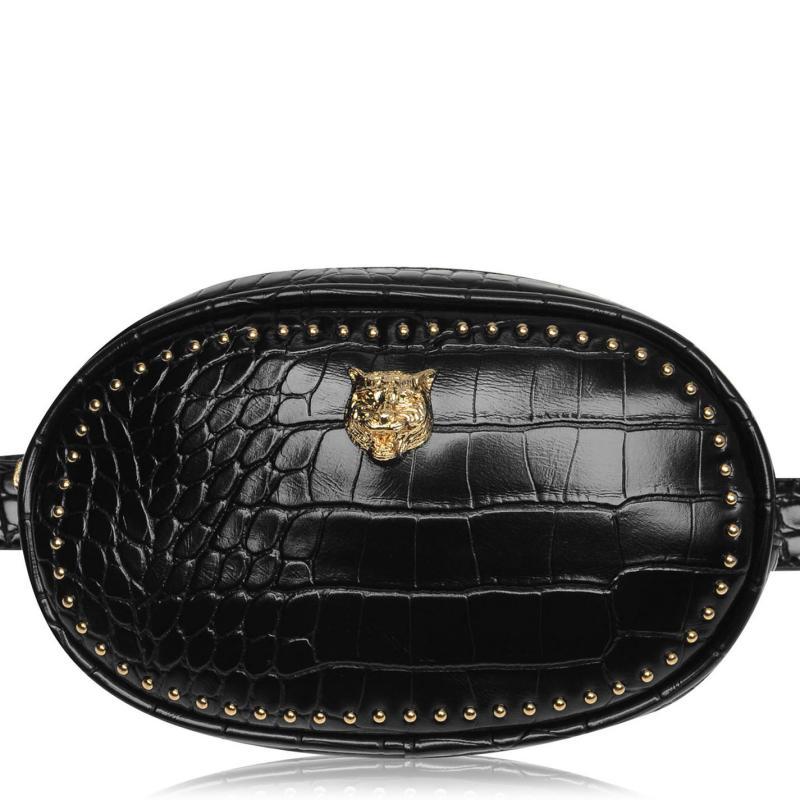 Glamorous Croc Belt Bag Black Croc