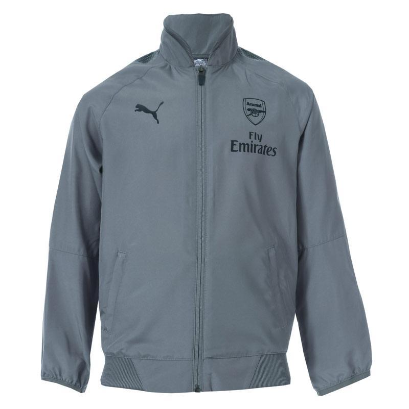 Bunda Puma Junior Boys Arsenal FC Casual Performance Jacket Grey