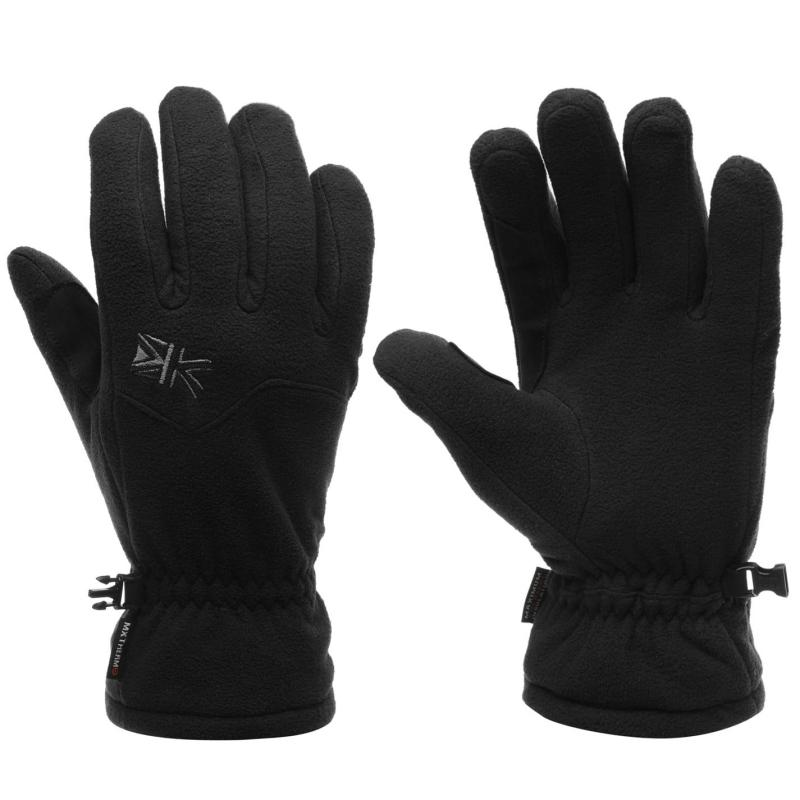 Karrimor Hoolie Fleece Gloves Mens Black