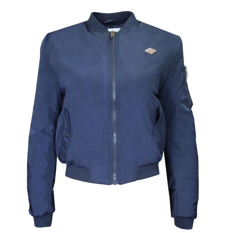 Lee Cooper Bomber Jacket Ladies Navy